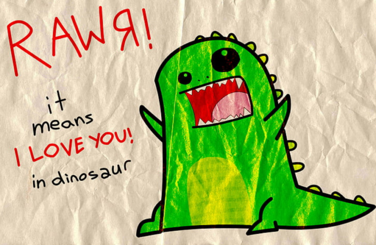 what does rawr mean in dinosaur